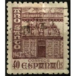 (968) 1943-44. 40 Céntimos. Año Santo Compostelano