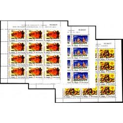(3157 A 3159, MP40 A MP42) 1992. 15+5, 25+5 y 55+5 Pesetas (3x Minipliego de 12 sellos). Barcelona 92