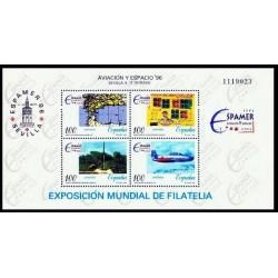 (3433) 1996. 4x 100 Pesetas. Aviación y Espacio ESPAMER 96