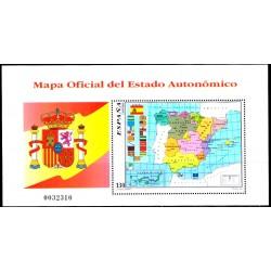 (3460) 1996. 130 Pesetas. Mapa Oficial del Estado Autonómico