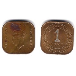 (6) Malaya. 1945. 1 Cent (EBC+)
