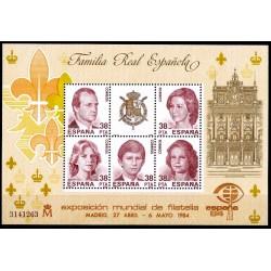 (2754) 1984. 5x 38 Pesetas. Exposición Mundial de Filatelia España 84