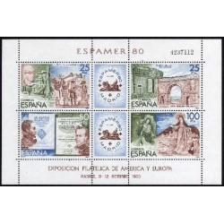 (2583) 1980. 25, 25, 50 y 100 Pesetas. Exposición Filatélica de América y Europa, ESPAMER 80