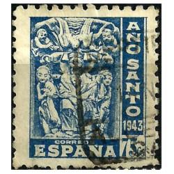 (966) 1943-44. 75 Céntimos. Año Santo Compostelano