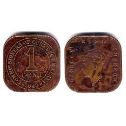 (6) Malaya. 1943. 1 Cent (MBC)