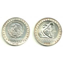 (556) Estados Unidos Mexicanos. 1992. 100 Pesos (EBC) (Plata)
