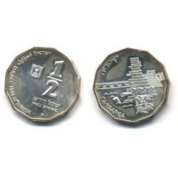 (188) Israel. 1988. ½ New Sheqel (SC) (Plata)
