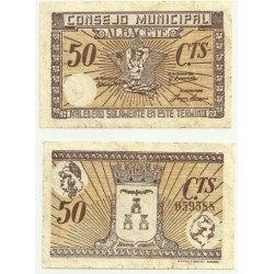 Albacete [1937] Billete de 50 Céntimos (MBC)