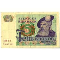 (51a) Suecia. 1968. 5 Kronor (MBC-)