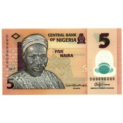 Nigeria. 2017. 5 Naira (SC)
