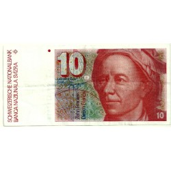 (53) Suiza. 1990-92. 10 Francs (MBC-)