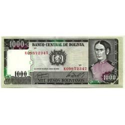 (167a) Bolivia. 1982. 1000 Pesos (SC-)