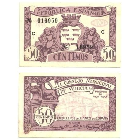 Murcia [1937] Billete de 50 Céntimos (EBC)