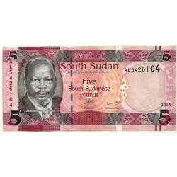 (6) Sudán del Sur. 2015. 5 Pounds (SC)