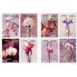 (3869 a 3876) 2002. 8x 0,25 Euro. Carné de 8 sellos. La flor y el paisaje