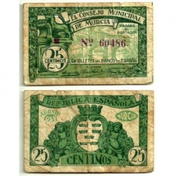 Murcia [1937] Billete de 25 Céntimos (RC)