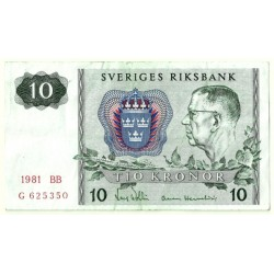 (52e) Suecia. 1981. 10 Kronor (MBC)