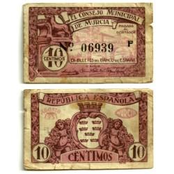 Murcia [1937] Billete de 10 Céntimos (RC)