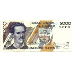 (128c) Ecuador. 1999. 5000 Sucres (SC)