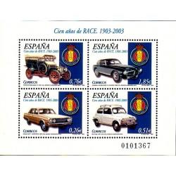 (3996) 2003. 0,26, 0,51, 0,76, 1,85 Euro. Cien años del R.A.C.E.