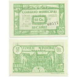 Alcañiz [1937] Billete de 50 Céntimos (SC)