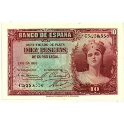 [1935] Billete de 10 Pesetas (SC) Serie C