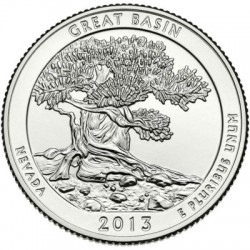 (544) Estados Unidos de América. 2013(D). Quarter Dollar (SC) Great Basin