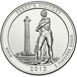 (543) Estados Unidos de América. 2013(P). Quarter Dollar (SC) Perry's Victory