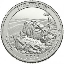 Estados Unidos de América. 2014(D). Quarter Dollar (SC) Shenandoah