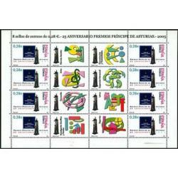 (4192) 2005. 8x 0,28 Euro. 25 Aniv. de los Premios Príncipe de Asturias
