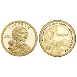 Estados Unidos de América. 2017(D). 1 Dollar (SC) Native