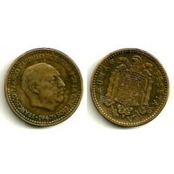 1947*(19-53) 1 Peseta (MBC-) Excesos de metal en busto