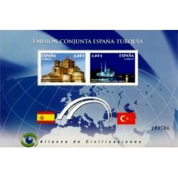 (4606) 2010. 2x 0,64 Euro. Alianza de Civilizaciones. España - Turquía