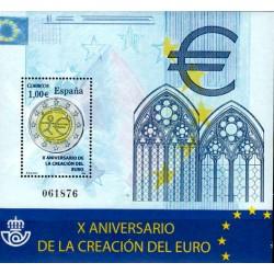 (4496) 2009. 1 Euro. X Aniv. de la creación del Euro