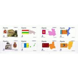 (4524 a 4531) 2010. Carné de ocho sellos. Autonomías