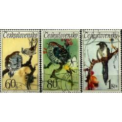 Checoslovaquia. Serie mini. Pájaros