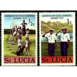 Santa Lucía. 1977. Serie Mini. Caribbean Boy Scout Jamboree Jamaica