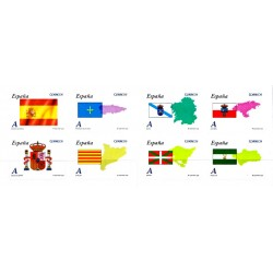 (4446 a 4453) 2009. Carné de ocho sellos. Autonomias