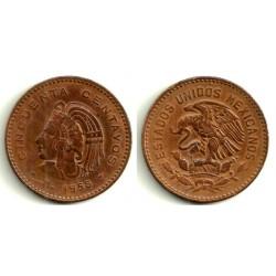 (450) Estados Unidos Mexicanos. 1956. 50 Centavos (BC)