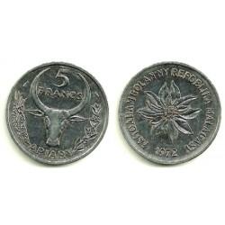 (10) Madagascar. 1972. 5 Francs (EBC)