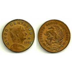 (426) Estados Unidos Mexicanos. 1958. 5 Centavos (BC)