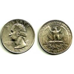 (A164a) Estados Unidos de América. 1993(P). Quarter Dollar (MBC)