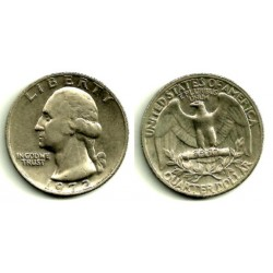(164a) Estados Unidos de América. 1972. Quarter Dollar (BC+)