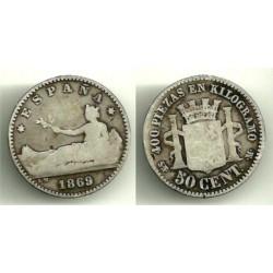 1869(*---) 50 Céntimos (RC)