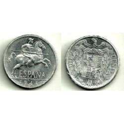 1941 10 Céntimos (SC-) Pellizco en el canto