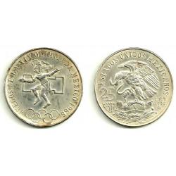 (479.1) Estados Unidos Mexicanos. 1968. 25 Pesos (EBC) (Plata)