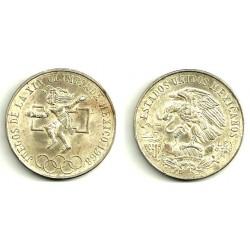 (479.1) Estados Unidos Mexicanos. 1968. 25 Pesos (SC) (Plata)