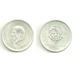 (467) Estados Unidos Mexicanos. 1951. 5 Pesos (EBC) (Plata)