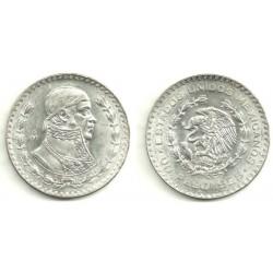(459) Estados Unidos Mexicanos. 1958. 1 Peso (EBC) (Plata)
