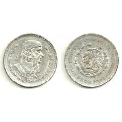 (459) Estados Unidos Mexicanos. 1964. 1 Peso (MBC) (Plata)